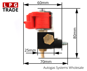 Valtek 3Ohm Type-30 4-Cylinder LPG CNG Autogas Proane Injectors Rail Dimension Size
